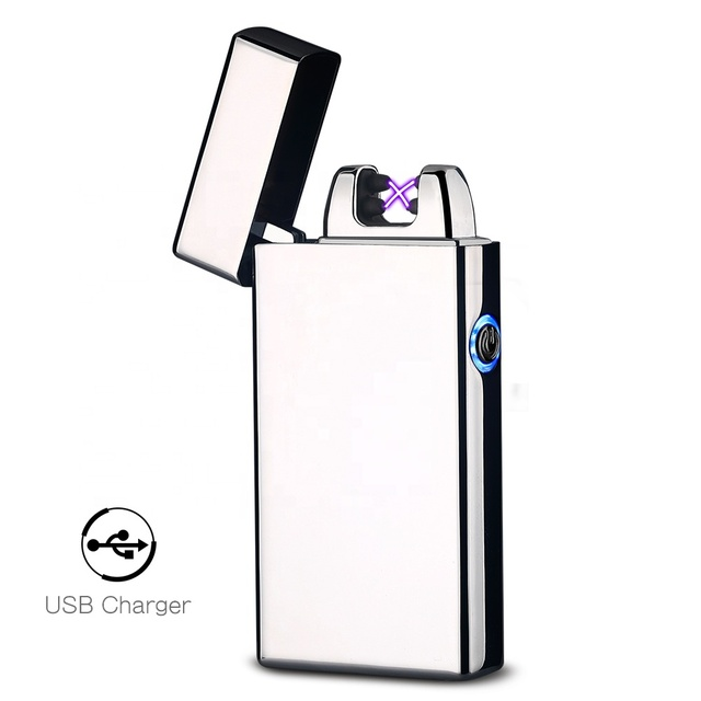 Hot Design 280mAh USB Rechargeable Plasma Lighter Electric, Custom Flameless Cigarette Lighter Torch with Led Night Light