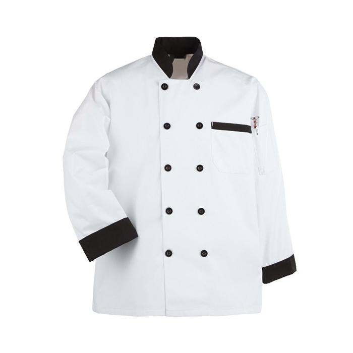 Hot sale fashion Short Sleeves Hotel Chef Jackets Coats black chef uniform