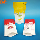 Milk Sachets Milk 200ml Custom Printed Stand Up Plastic Juice Pouch Energy Gel Milk Drink Sachets