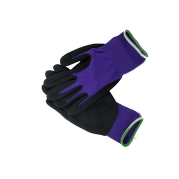 Integrity Amazon supplier color purple nylonand black nitrile coated nylon glove