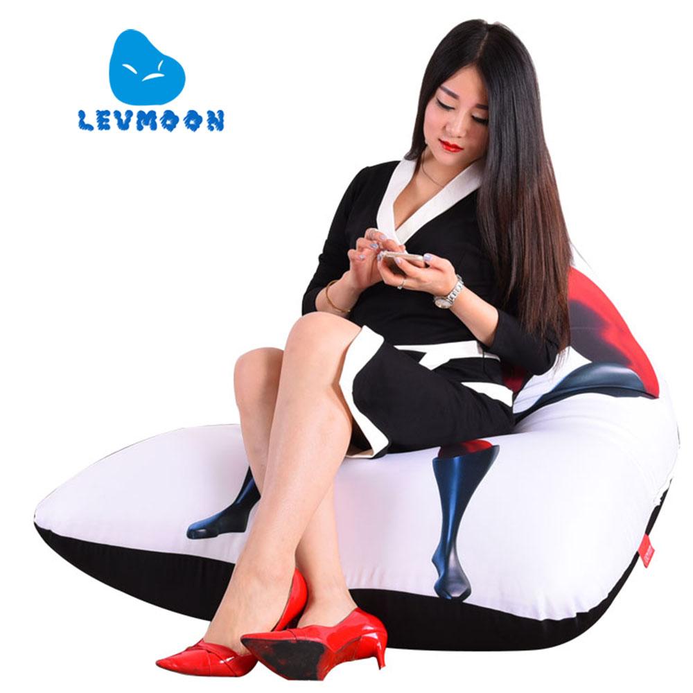 LEVMOON Beanbag Sofa Chair Superman M Seat zac Comfort