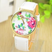 Moderní dámské hodinky Geneva s motive růže v různých barvách z Aliexpress