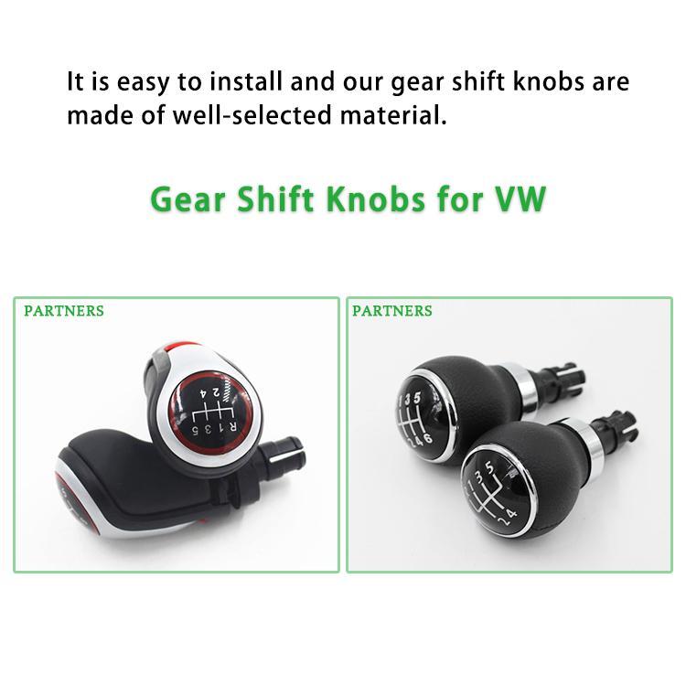ZPARTNERS Car MT Stick Gear Shift Knob for VW trd gti jetta touran golf 7 5 mk6 speed custom shift knob weighted shift knobs