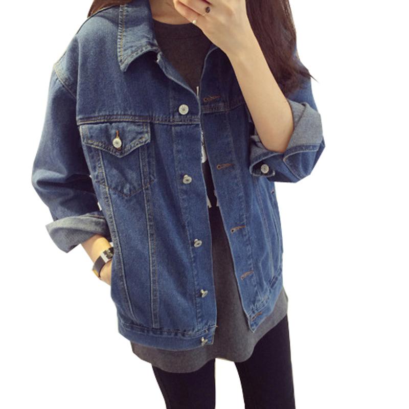 ec9d97a3af Uwback 2016 New Brand Oversized Denim Jacket Women Jeans Loose BF Coats  Woman Long Sleeve Denim