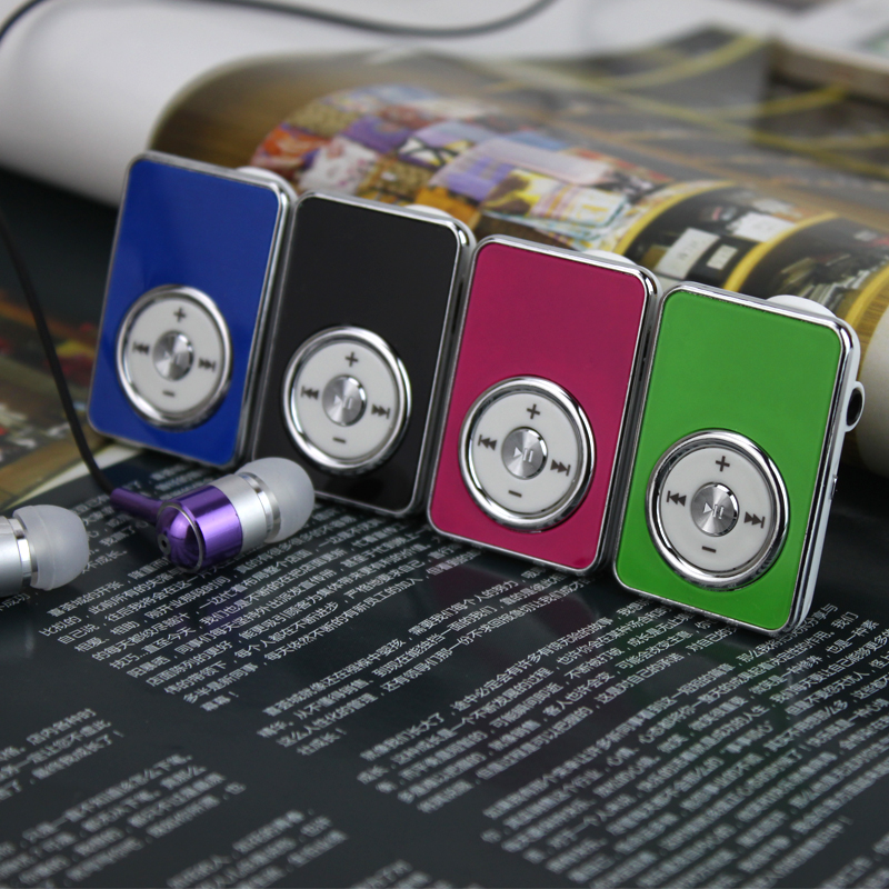 Hot Sell Christmas Gift Mini Mirror Clip Sport MP3 Music Player With Micro SD TF Card