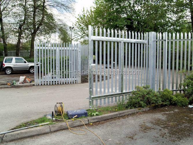 de seguridad de acero puertas de hierro forjado para jardn