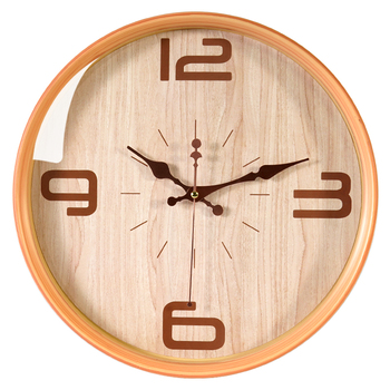 Retro quiet wall clock living room bedroom creative circular plastic wall watch