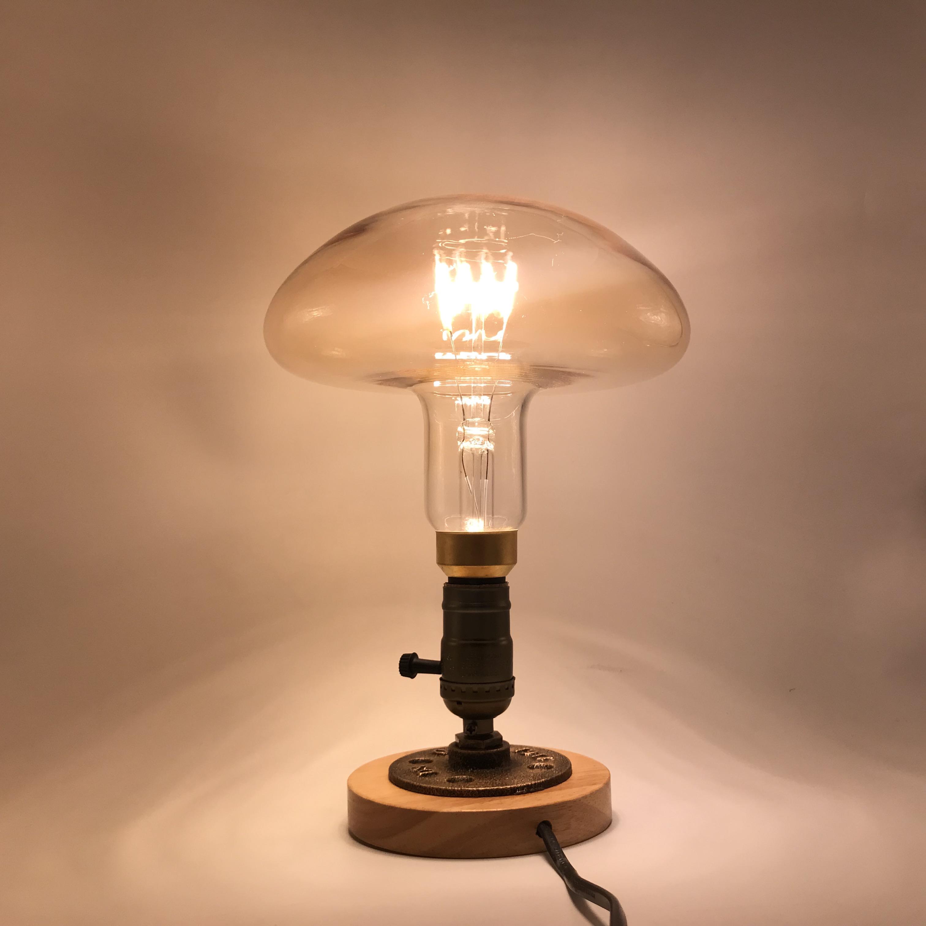 Led filament light mushroom shape vintage lights spiral filament led edison bulb E27