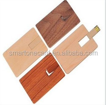 customized wooden USB flash card for promotion gift