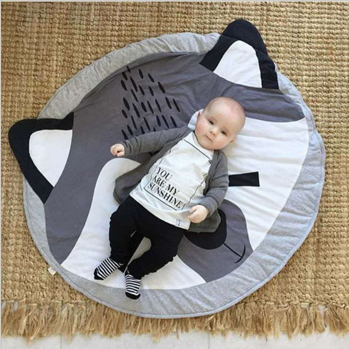 Baby 100% Cotton Thick Crawling Mat Kids Floor Play Carpet Baby Floor Mat