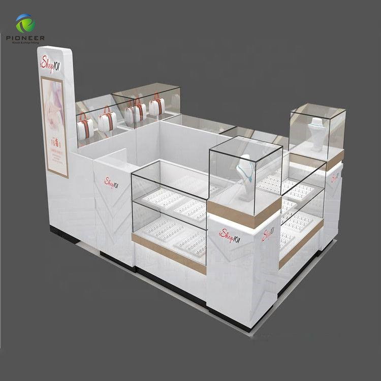 Pioneer Mobile Phone Display Cabinet Cell Phone Kiosk For Shop Counter Design