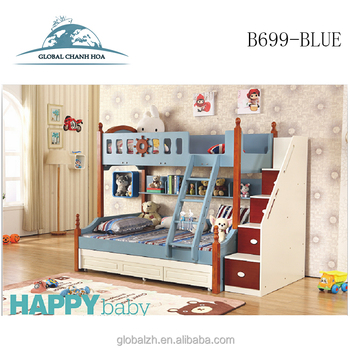 Hot Sale Bedroom Furniture Kids Modern Wood Bunk Beds