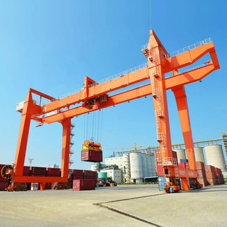 Heavy Duty 45 T 50T RMG Rail Mounted Mobile Container Gantry Crane