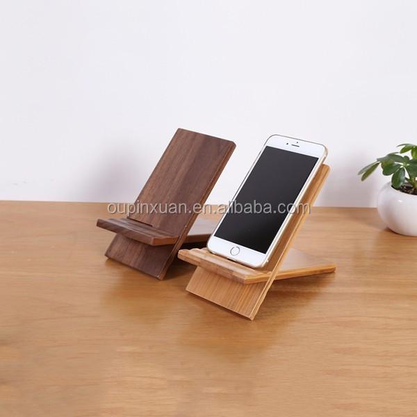 Totalement Naturel Et Haute Qualité Accessoires Pour La Maison,Bureau  Téléphone Accessoire Amovible En Bambou Support De Téléphone Portable - Buy