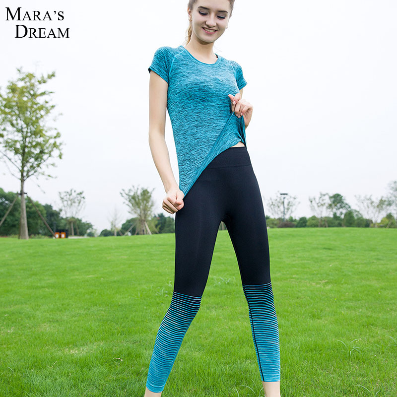 2016 Hot New Women Gradient Tight Yoga Pants Running ...