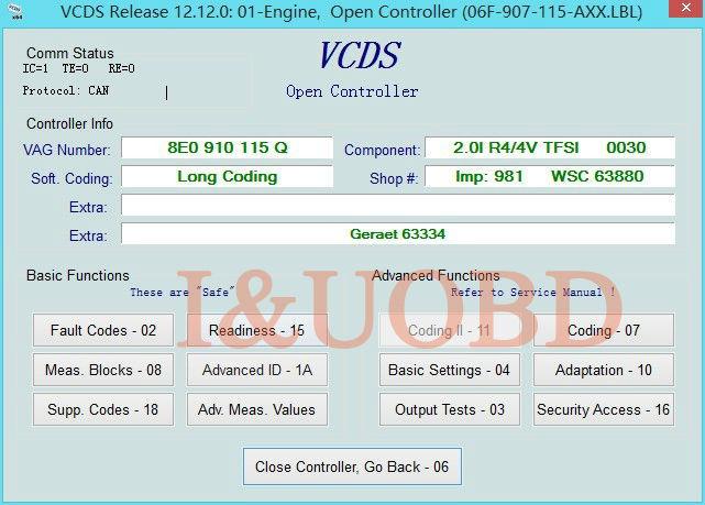 VAG COM 12 12 0 VCDS CAN USB Interface Update audi/vw skoda volk wagon
