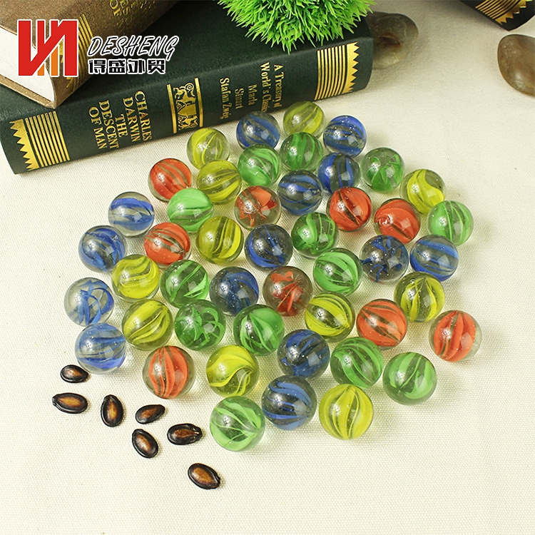 Wholesale transparent colorful custom colored printed glass marbles