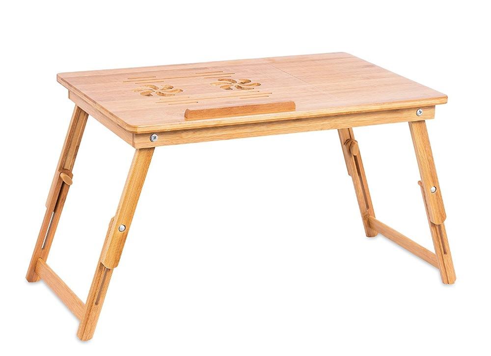 Бамбуковый Регулируемый Поднос для ноутбука