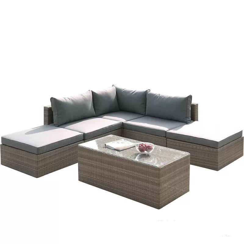 Мебель для отдыха на открытом воздухе, мебель для двора, патио, ротанговый модульный угловой диван