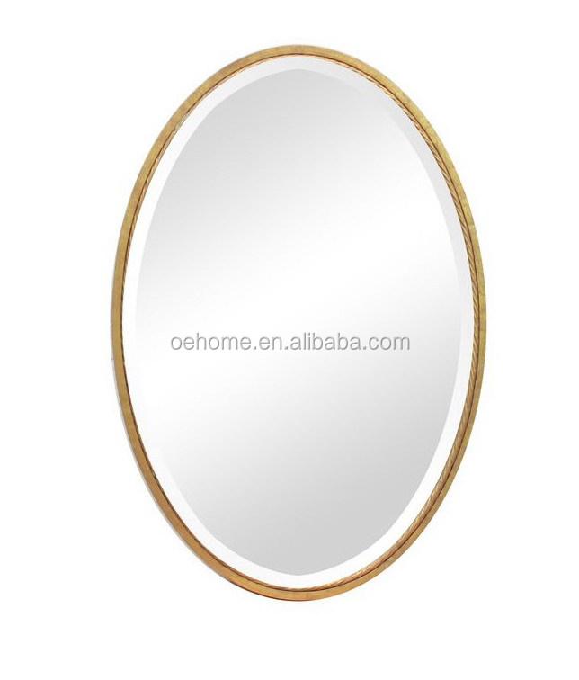 Brushed Nickel Sherise Oval Metal Wall Mirror Buy Oval Metal Wall Mirror 3d Mirror Wall Mirror Decorative Metal Wall Mirror Product On Alibaba Com