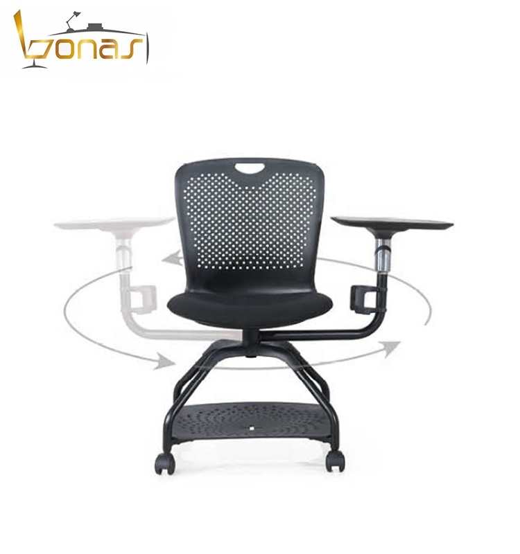 School classroom student chair office task office chair training chair with writing pad