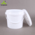 Wholesale cheap 500ml PP food grade white plastic bucket with screw lid and handle