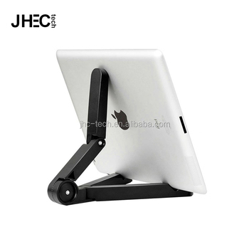 Universal lazy stand foldable triangle retractable hand silicone phone holder for ipad air mini PC tablets