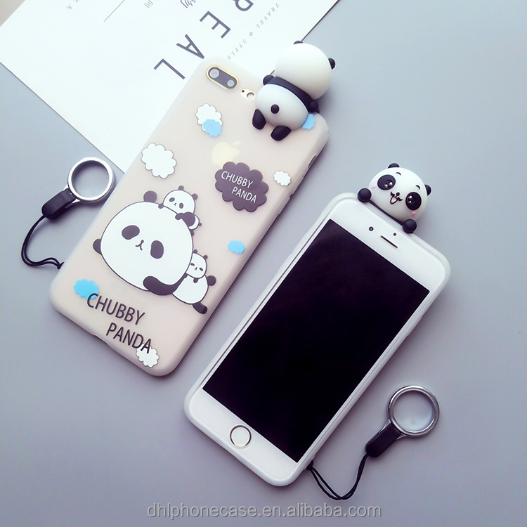Factory Price Cute Soft 3d Panda Cartoon Phone Case Silicone Case For Iphone 6 7 8 X,For Samsung Galaxy S4 Note7 - Buy 3d Phone Case,3d Cartoon Phone ...