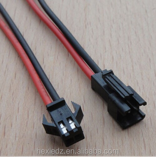 2.54mm SM 2-Pin Cable Connector Plug Male And Female For LED Strip Light Lamps
