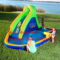 2016 Factory Price Inflatable Water Slide Pool Jumping Bouncer Castle With Air Blower Carry Bag