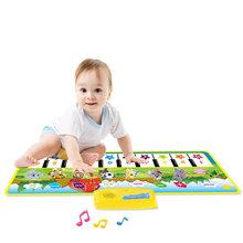 Детский игровой коврик, игровой коврик для спортзала 0-12 месяцев, мягкая Музыкальная погремушка, детский коврик для ползания(Китай)