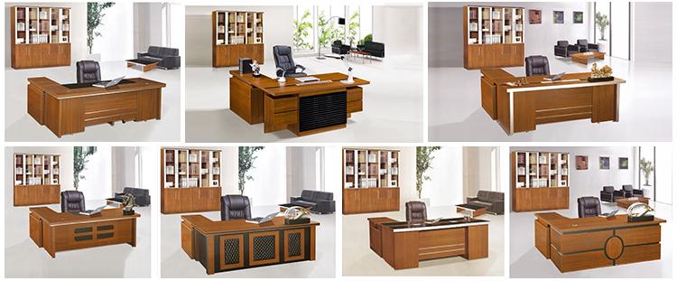 2017 Modern Office Furniture Melamine Executive Desk Table Design