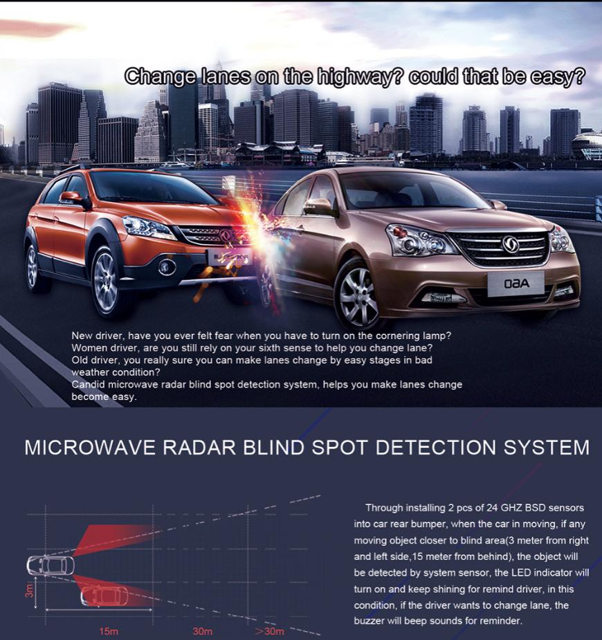 truck blind spot detection system bsd microwave radar anti collision sensor buy blind spot. Black Bedroom Furniture Sets. Home Design Ideas