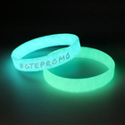 fluorescent silicone wristband/glow in the dark bracelet/glow wristbands