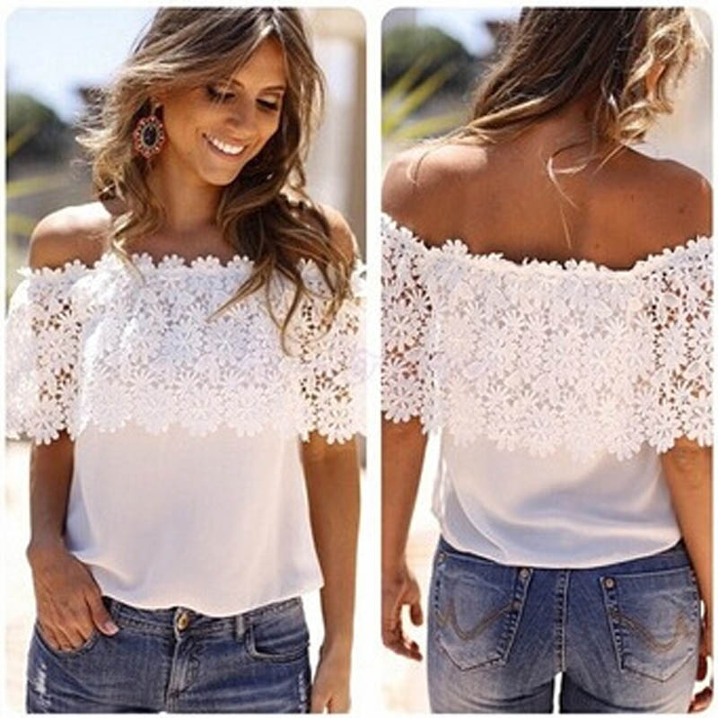 1efec0e88491f T-Shirts Cheap T-Shirts One Word Collar Fashion Sexy Women Off.We offer the  best wholesale price