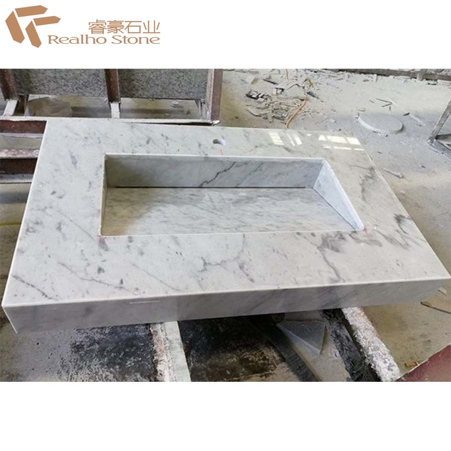 Carrara White Bathroom Countertop Solid Surface Marble Bath Vanity Top View White Carrera Marble Vanity Top Realho Product Details From Xiamen Realho Stone Co Ltd On Alibaba Com