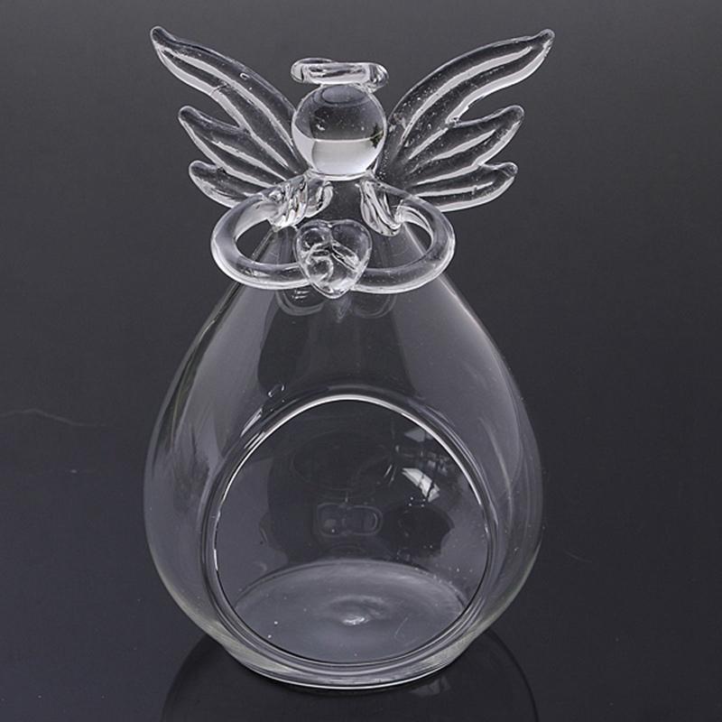 <font><b>Elegant</b></font> Angel Crystal Glass Candle Holder Hanging TeaLight Candlestick Clear Wedding Table Christmas <font><b>Home</b></font> <font><b>Decor</b></font> Friend Gift
