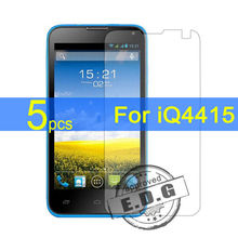 5pcs Ultra Clear LCD Screen Protector Film Cover For Fly iQ4415 Protective Film  +  cloth free shipping