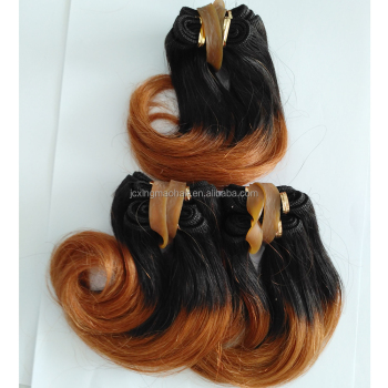 Wholesale Two Tone Ombre Color Hair Weave Virgin Malaysian Hair Cheap Ombre Hair Weaves