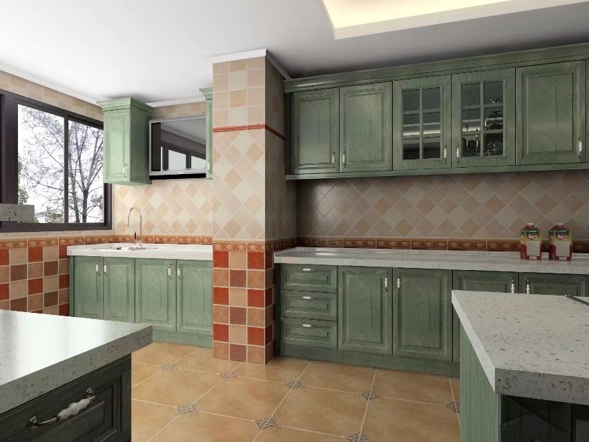 Customized Solid Wood Kitchen Cabinets Direct Factory Kitchen Supplier