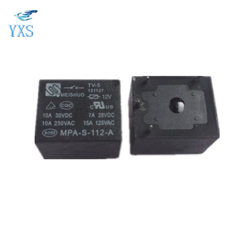 MEISHUO MPA-S-112-A Power Relay 12VDC 4Pin 10A 250VAC