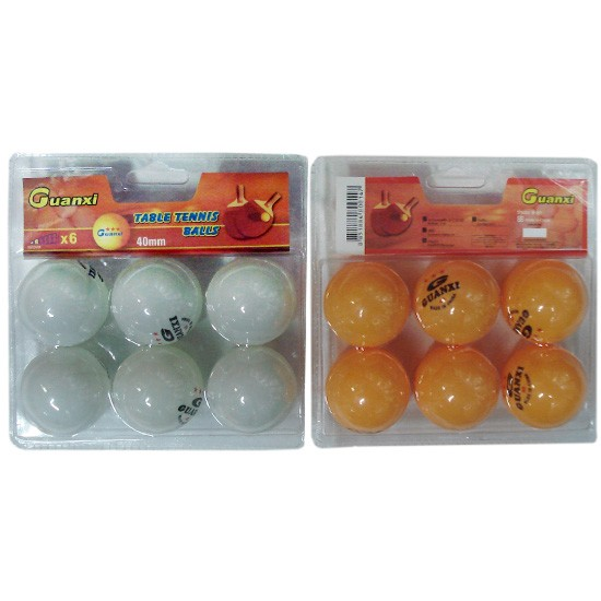 40mm beer pong Customized PMS Color Plastic bulk packed Glossy white ping pong ball