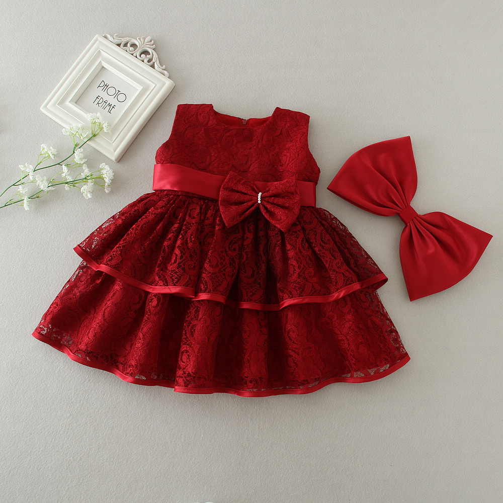 Wine Red Cake Layers Party Dress For Baby Dress Girls - Buy Birthday Dress  For Baby Girl Of 7 Year Old,Baby Girls Party Wear Dress,Baby Girls Party