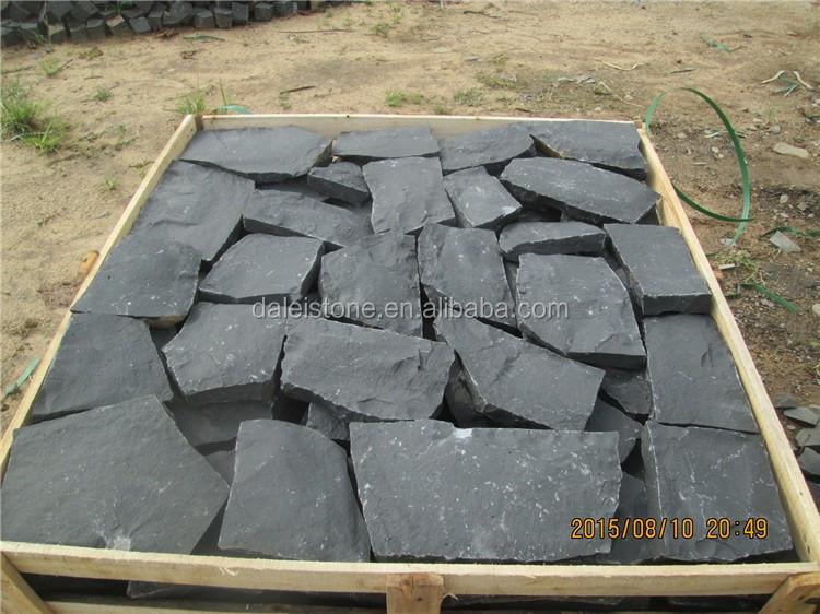 Китай Zhangpu Dark Черный Balsalt Случайный Природный круглый булыжник