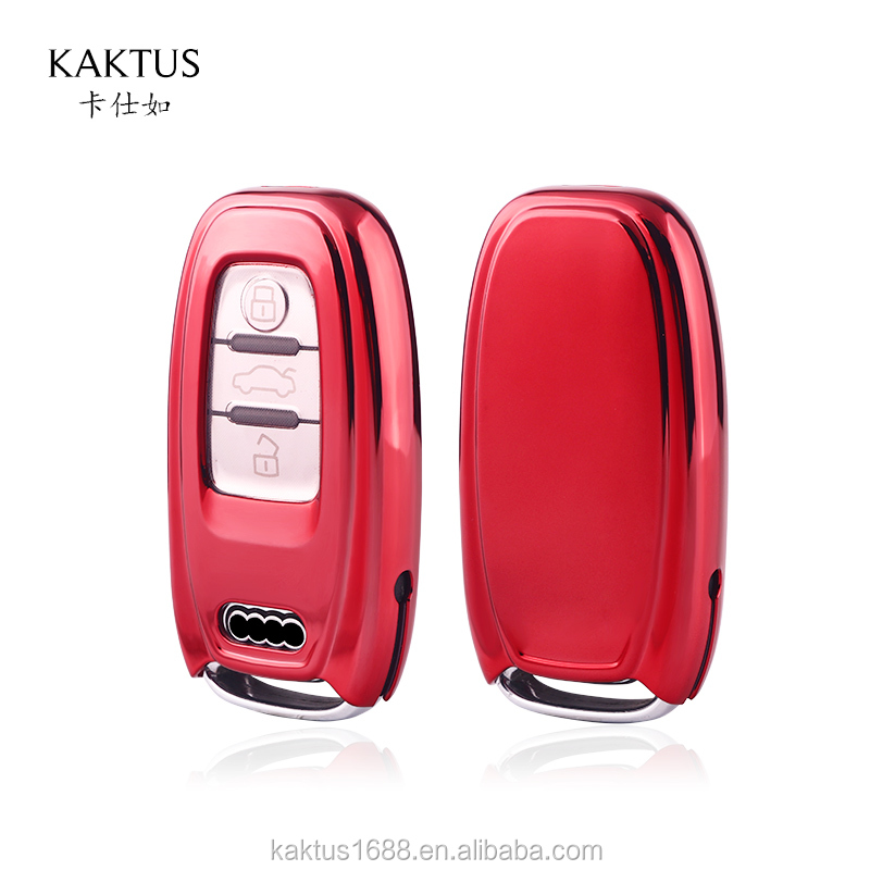 Чехол для автомобильного ключа для AUDI A4, A5, A6, A7, A8, Q5, S5, S6, S7, S8, RS6, RS7, R8, чехол для автомобильного ключа, защитный чехол из ТПУ, чехол для ключа