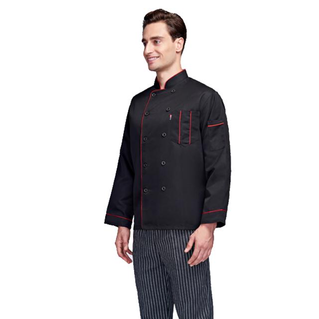 Long sleeve kitchen chef jackets chef uniform design
