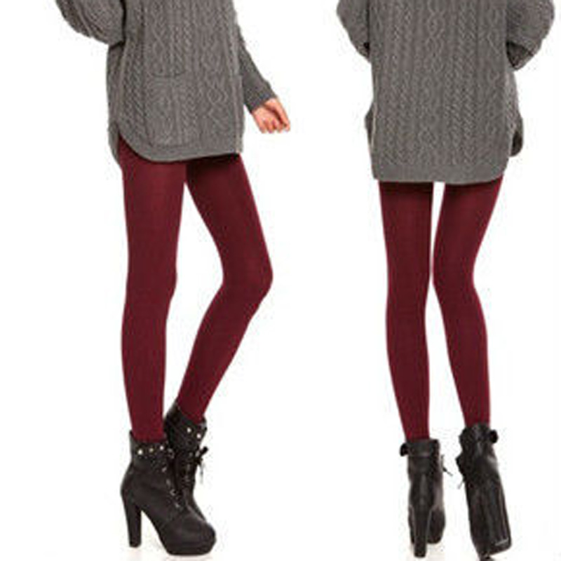 New Fashion Casual Warm Faux Velvet Winter Women Leggings Knitted Thick Slim Women Leggings Super Elastic Woman Pants