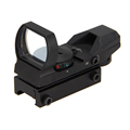 Tactical RIfle Lamp Light Holographic 4 Reticle Red Green Dot Sight Picatinny Weaver Rail