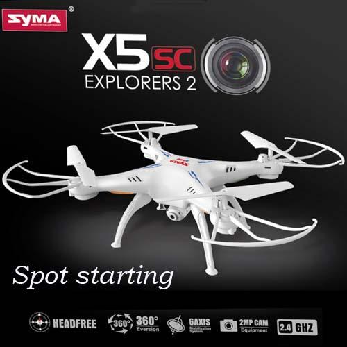 Free Shipping Syma X5c Upgrade Syma X5sc 2.4G 4CH 6-Axis Professional Aerial RC