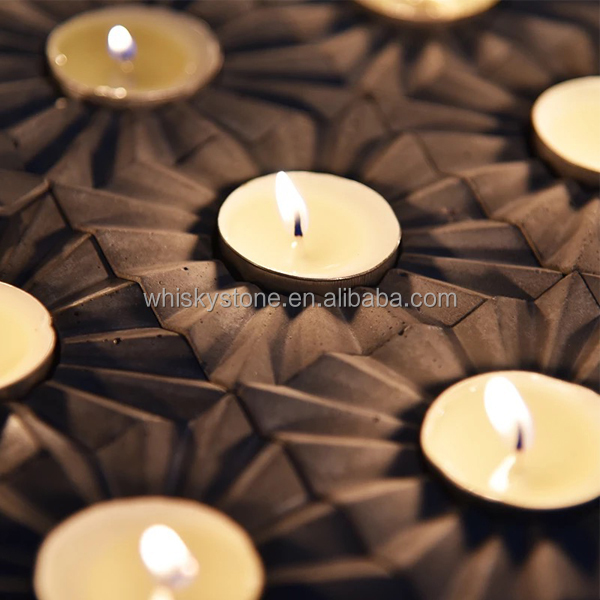 House decoration for wedding candle holders natural stone candle trays